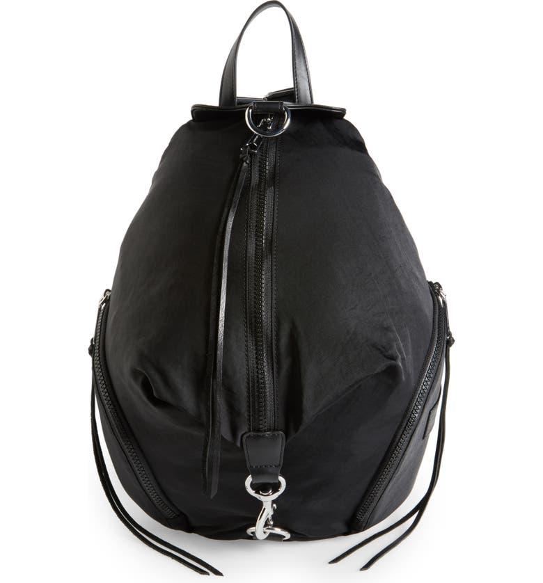 REBECCA MINKOFF Julian Nylon Backpack, Main, color, BLACK