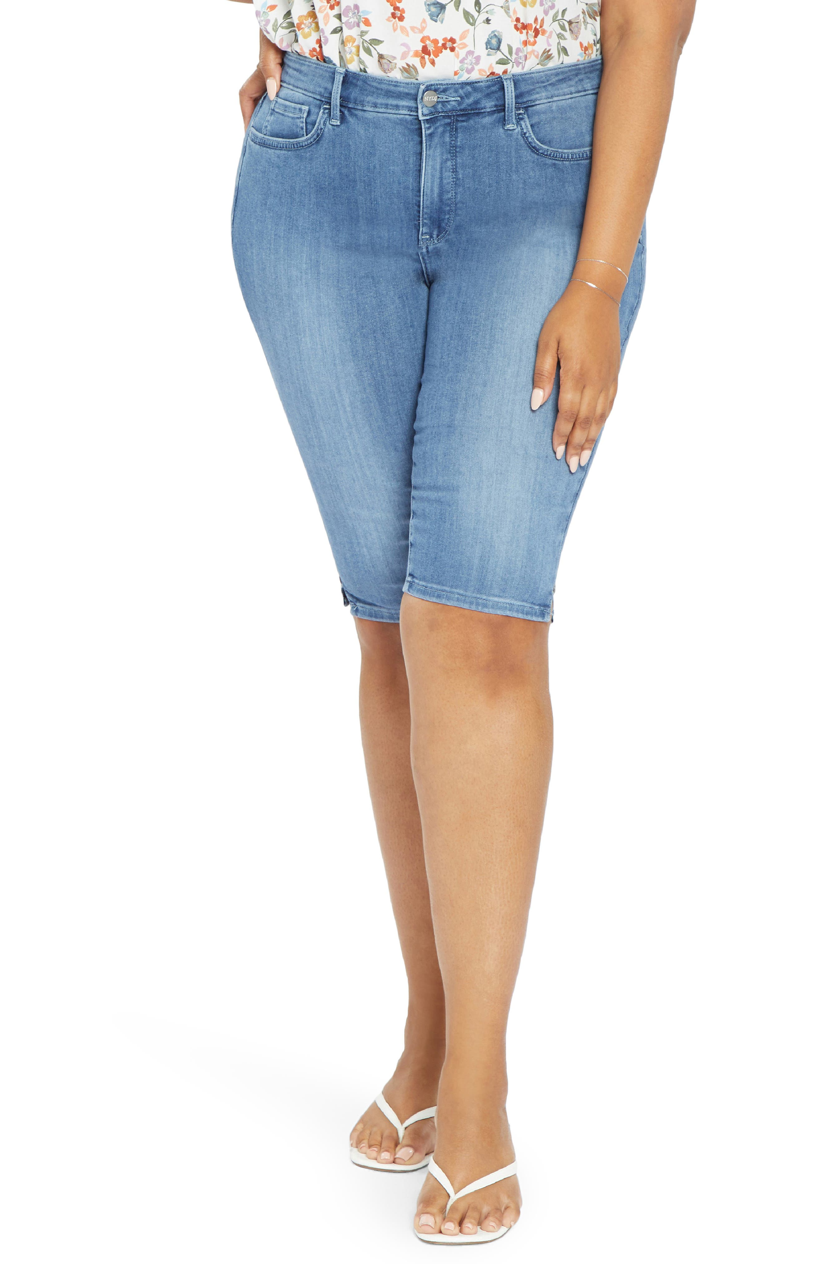 Plus Women's NYDJ Side Slit Knee Length Shorts