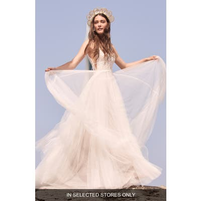 Willowby Delena Lace & Tulle Wedding Dress