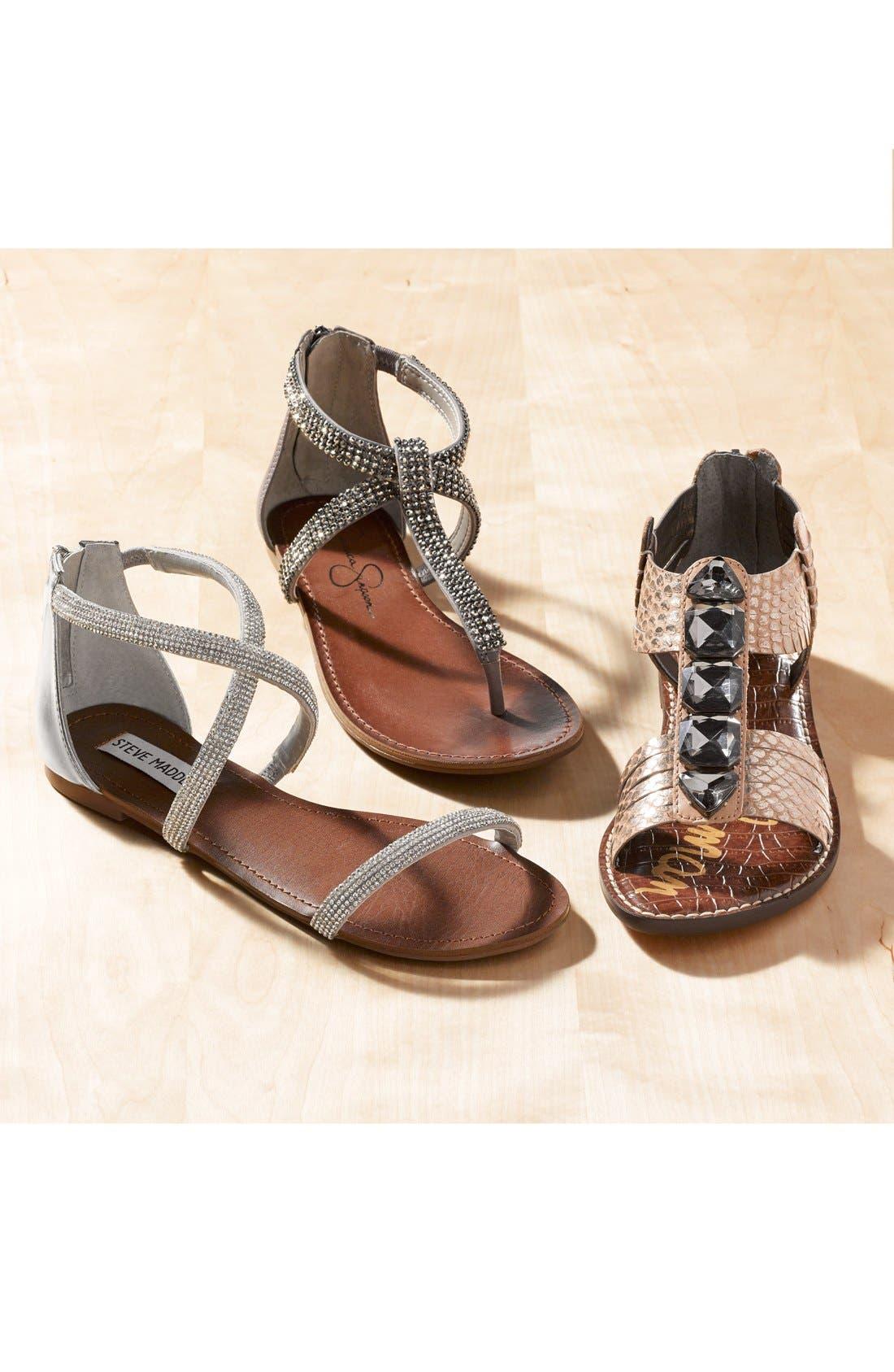 ,                             'Zsaza' Crystal Embellished Strappy Sandal,                             Main thumbnail 1, color,                             001