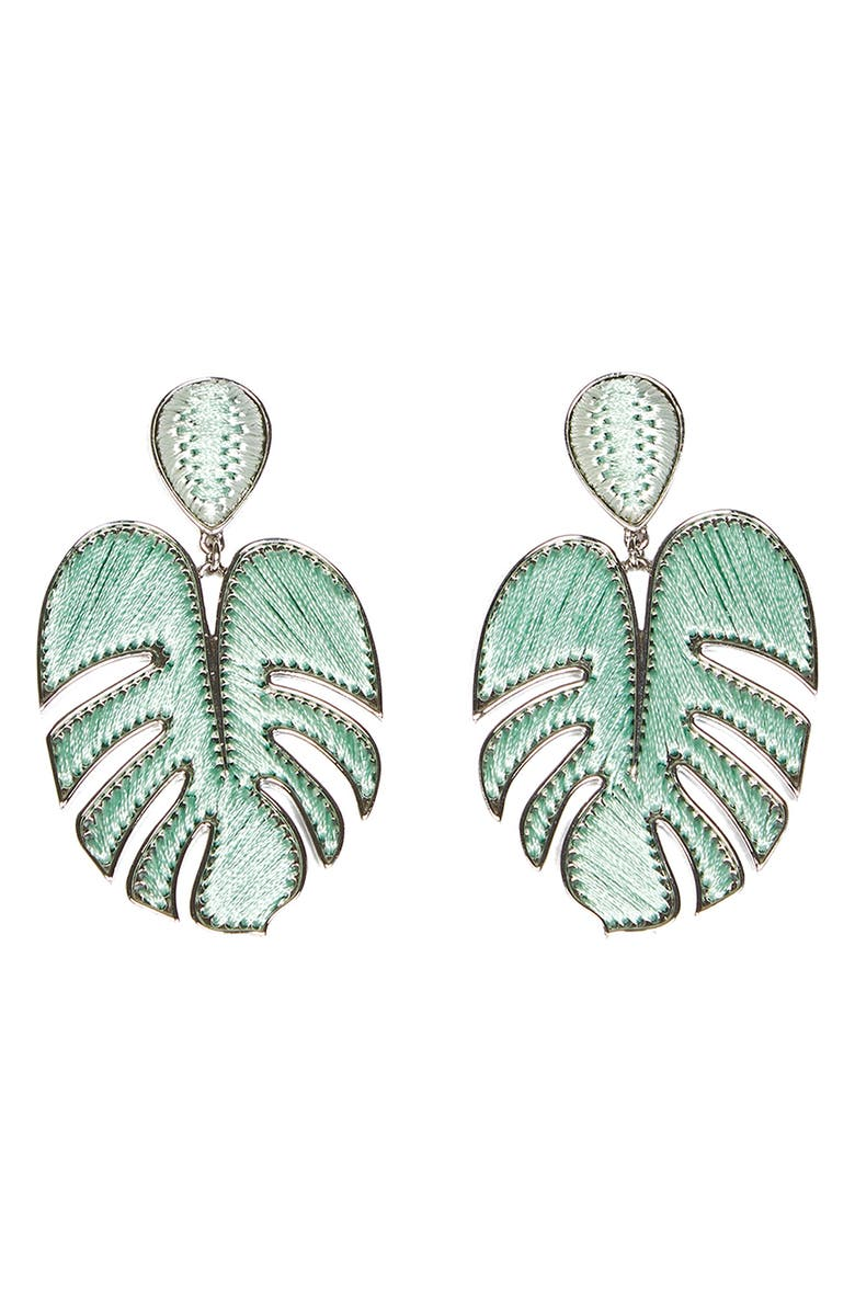 MIGNONNE GAVIGAN Palmer Drop Earrings, Main, color, MINT
