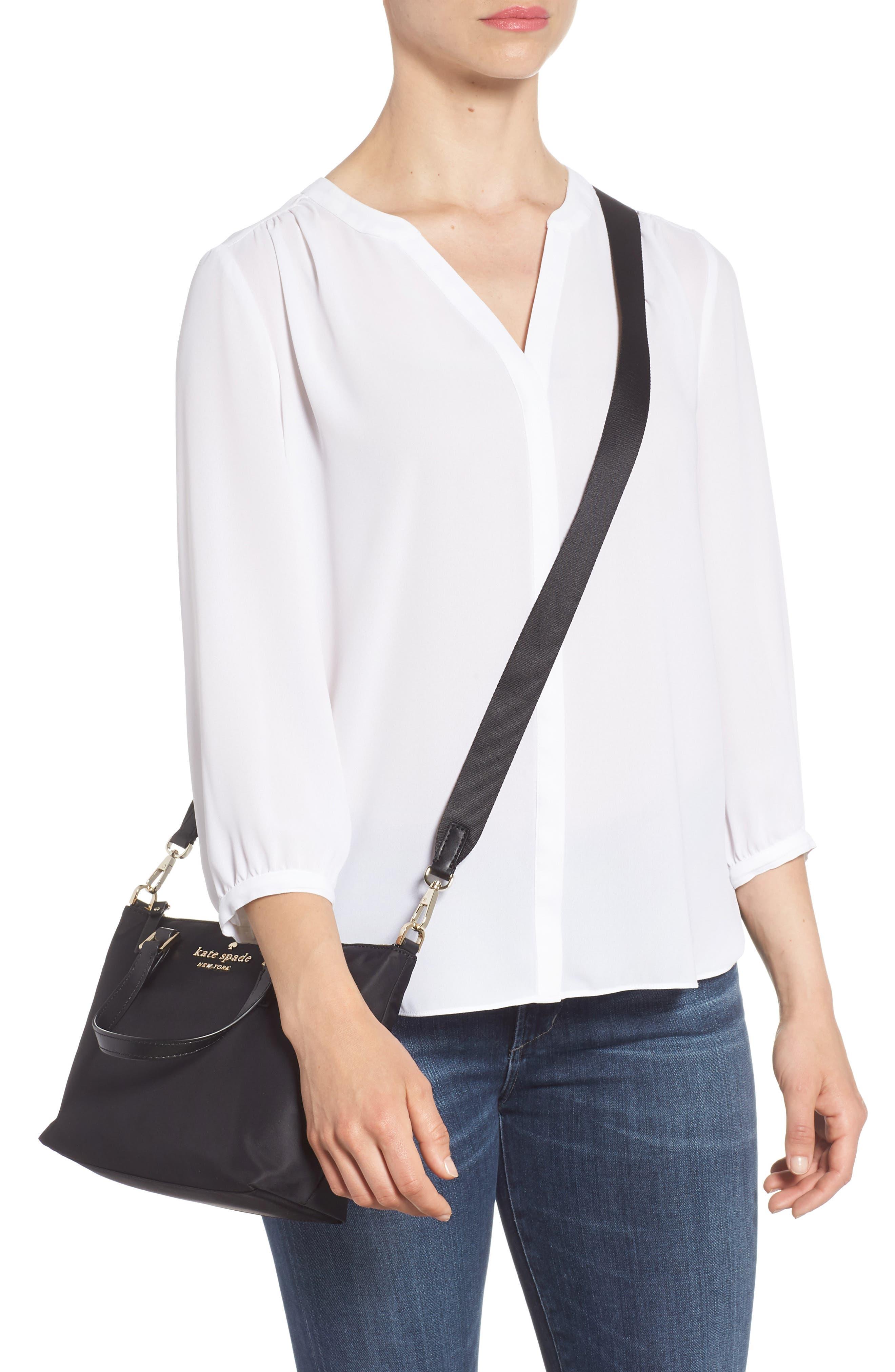 ,                             watson lane - lucie nylon crossbody bag,                             Alternate thumbnail 2, color,                             BLACK