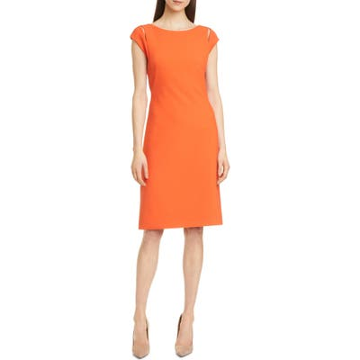 Boss Dileky Slit Shoulder Dress, Orange