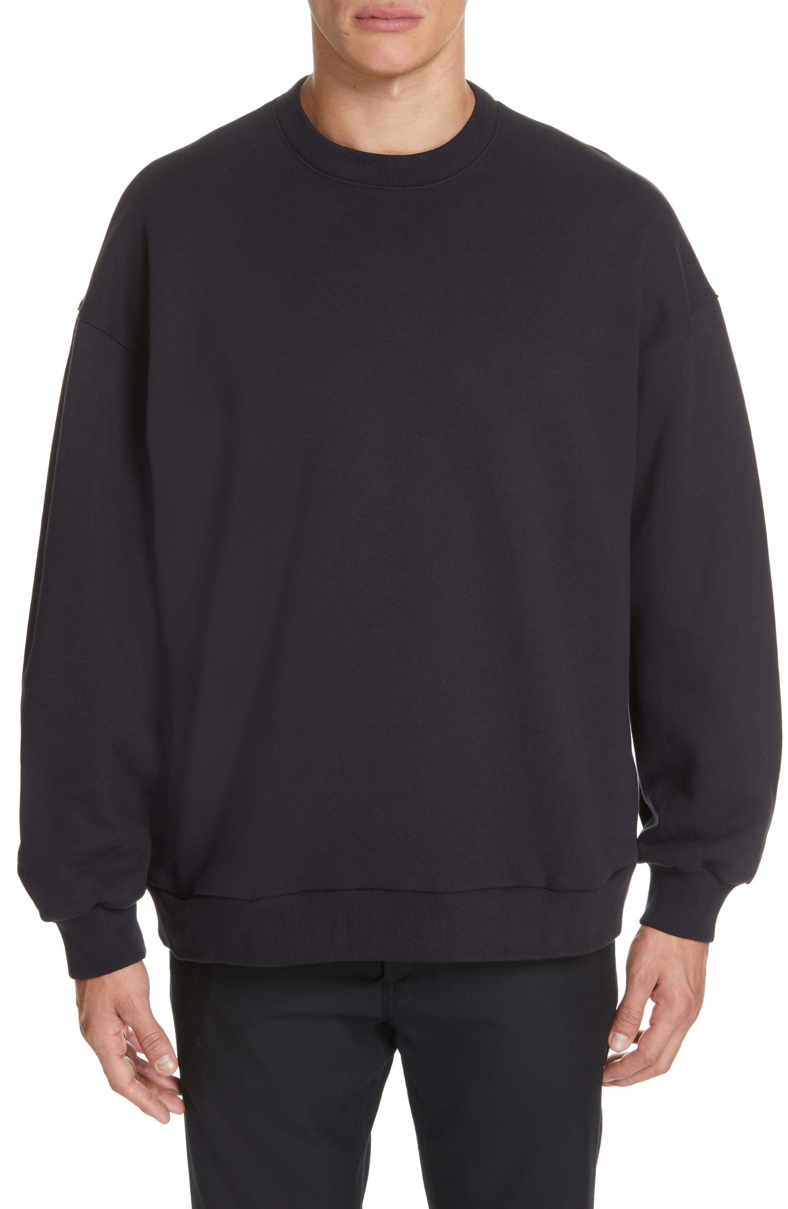 Oversize Crewneck Sweatshirt, Main, color, 410