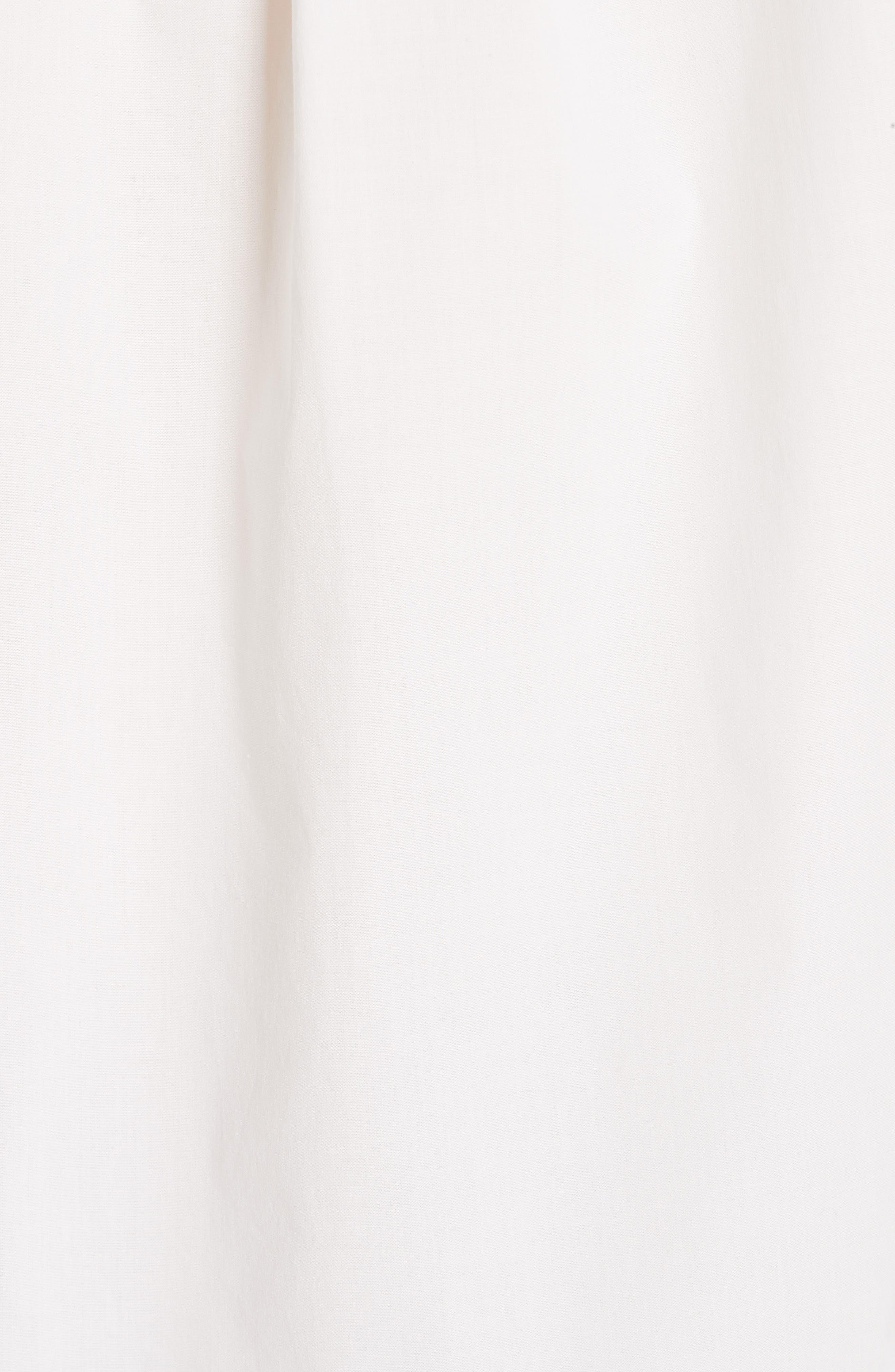 ,                             Floral Print Stretch Cotton Shirt,                             Alternate thumbnail 5, color,                             WHITE