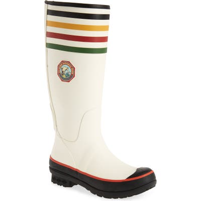 Pendleton Glacier National Park Tall Waterproof Rain Boot, White