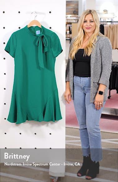 Bow Neck Short Sleeve Dress, sales video thumbnail