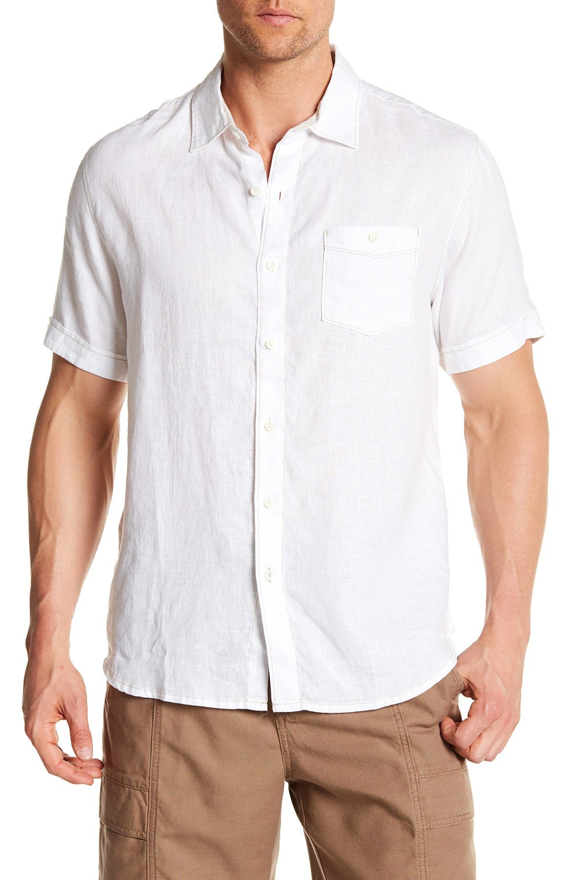 Image of Tommy Bahama Party Breezer Linen Short Sleeve Modern Fit Shirt