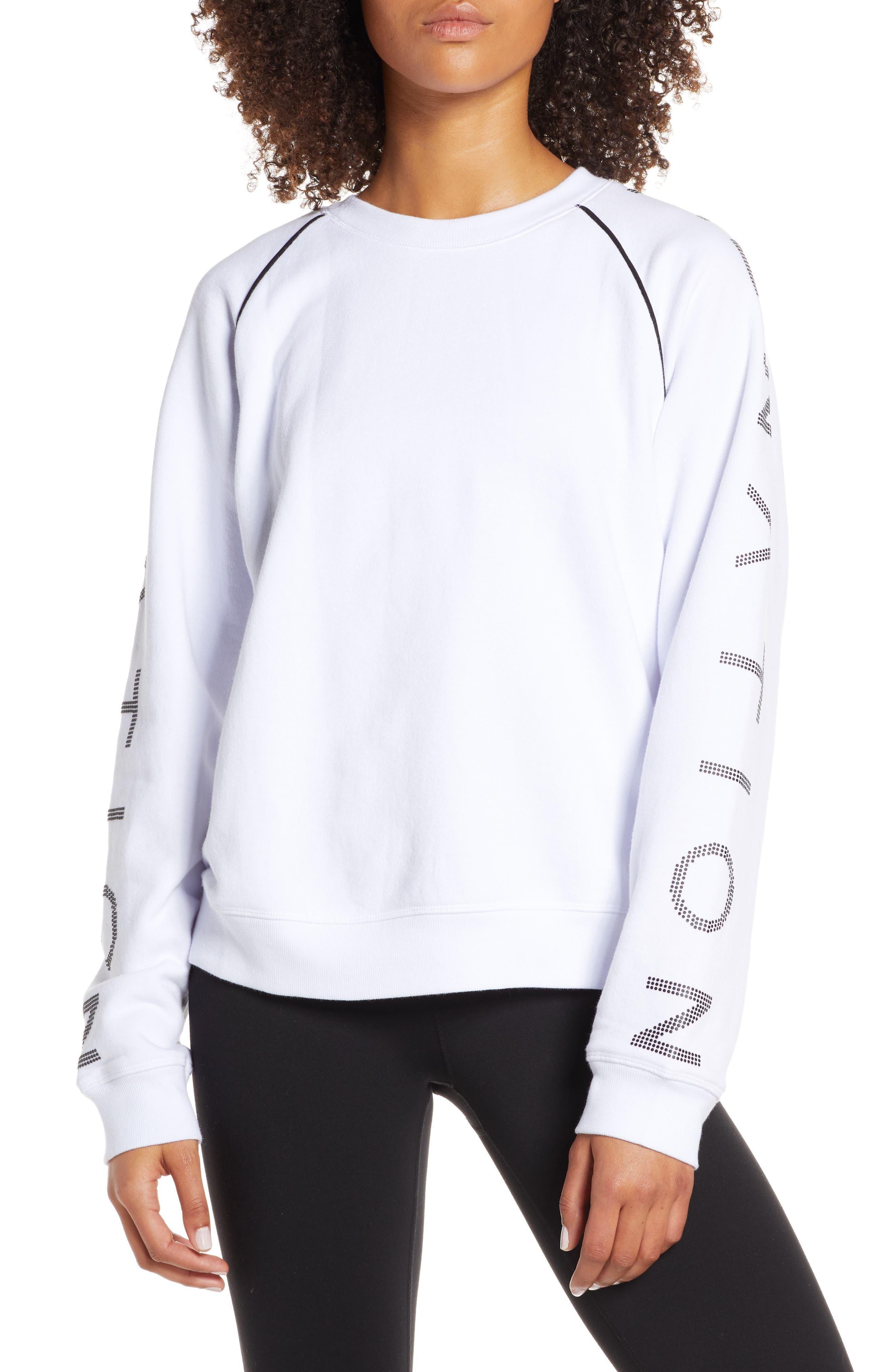 ,                             Highline Sweatshirt,                             Main thumbnail 1, color,                             WHITE/ BLACK