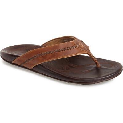 Olukai Mea Ola Flip Flop, Brown