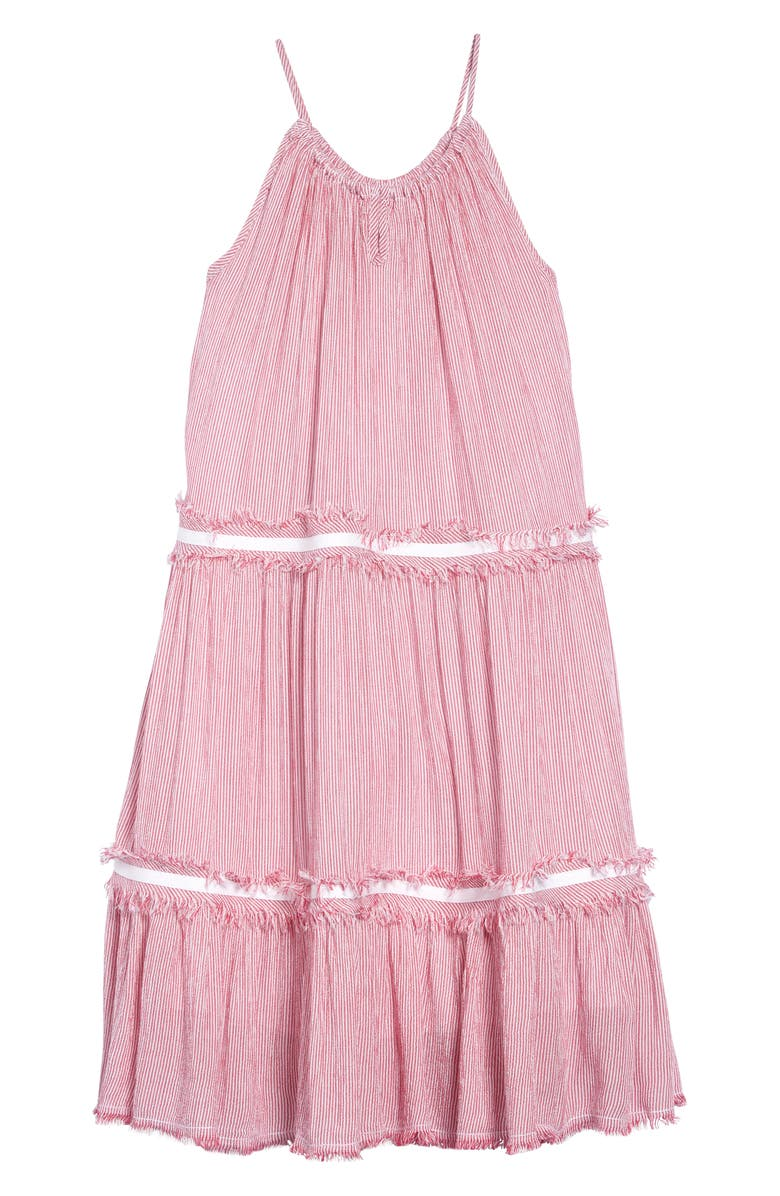 TUCKER + TATE Stripe Tiered Sundress, Main, color, 610
