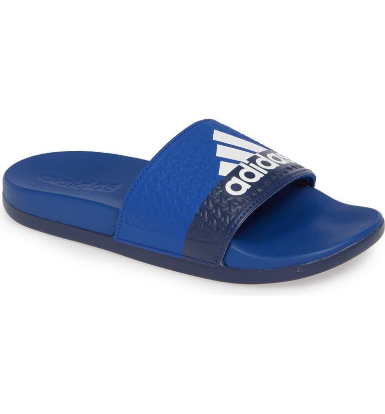 ADIDAS Adilette Slide Sandal, Main, color, COLLEGIATE ROYAL/ WHITE/ BLUE