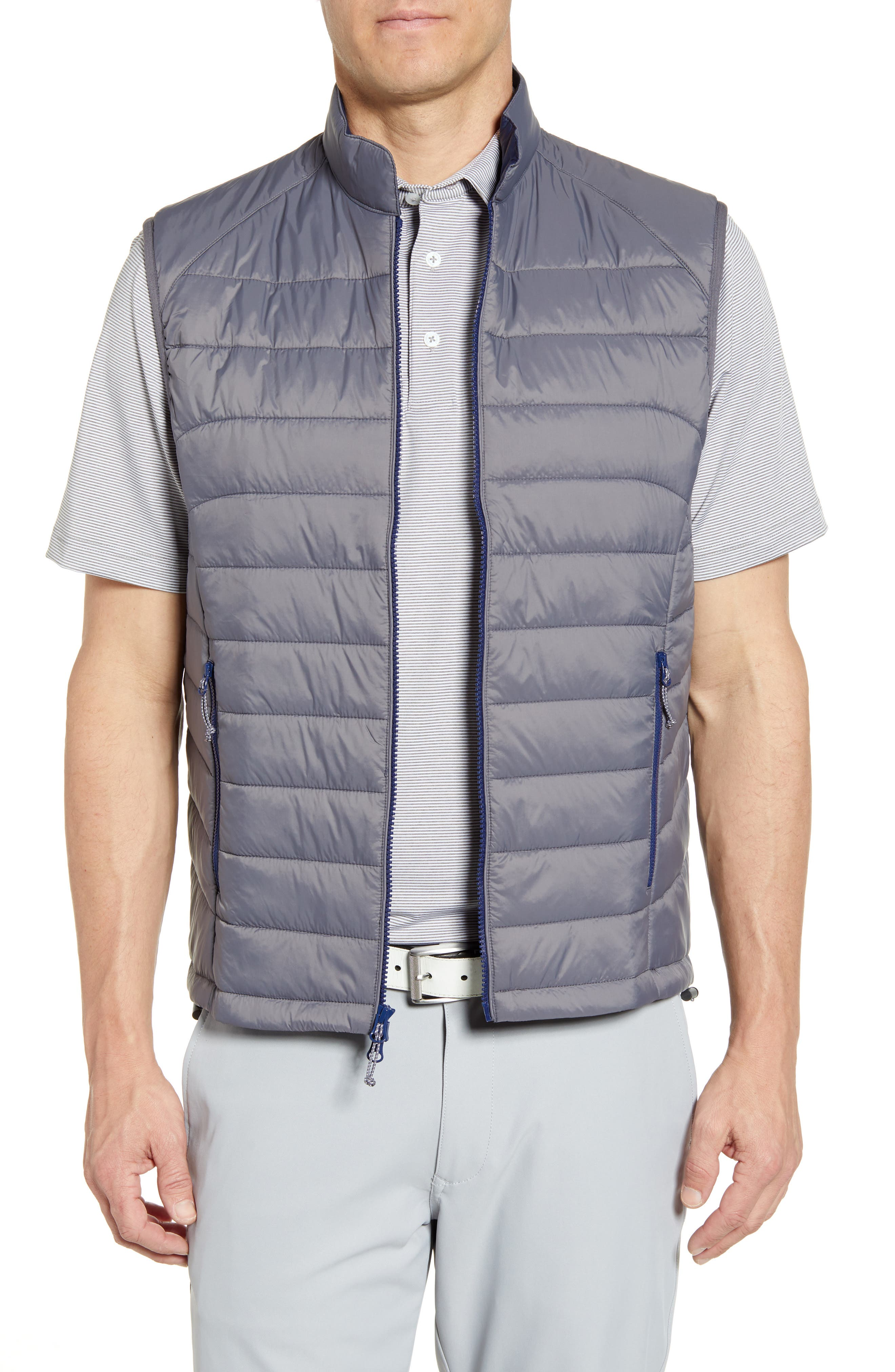 Johnnie-O Straits Quilted Vest, Grey