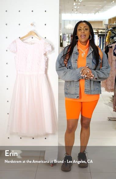 Marinela Floral Appliqué Party Dress, sales video thumbnail