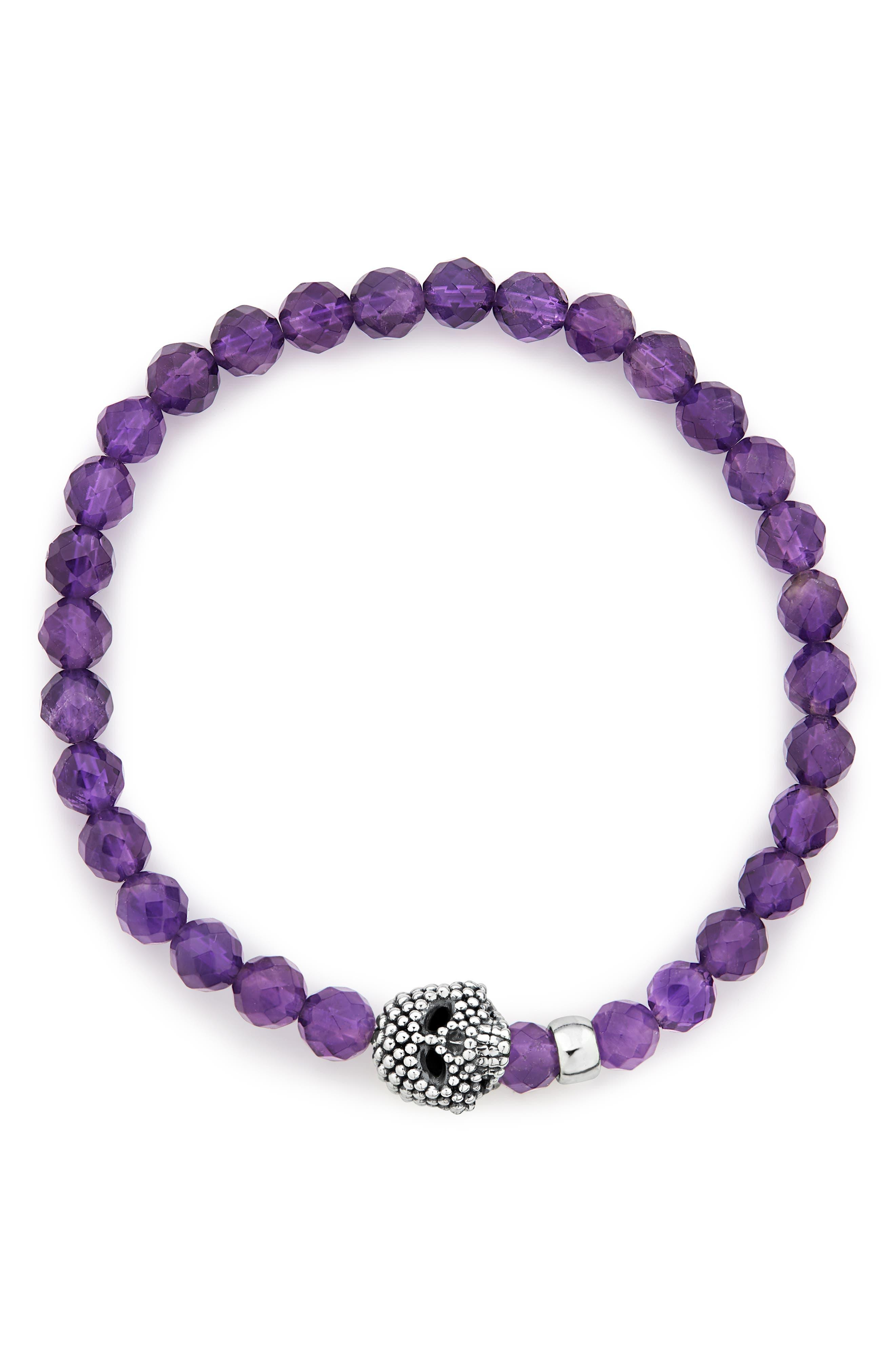 Pop Purple wrap bracelet with a skull Pop