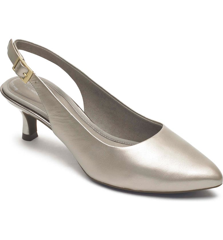 ROCKPORT Total Motion Kaiya Slingback Pump, Main, color, DOVE PEARL LEATHER