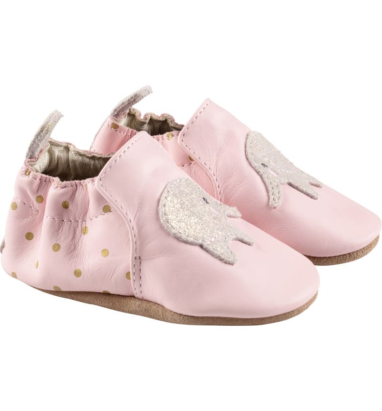 ROBEEZ<SUP>®</SUP> Ella Elephant Crib Shoe, Main, color, PINK