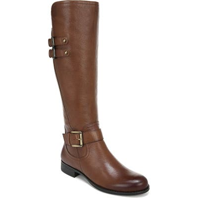 Naturalizer Jessie Knee High Riding Boot, Wide Calf- Brown