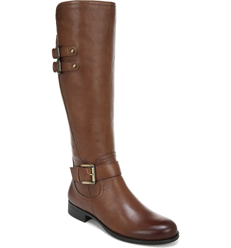 NATURALIZER Jessie Knee High Riding Boot, Main, color, CINNAMON LEATHER