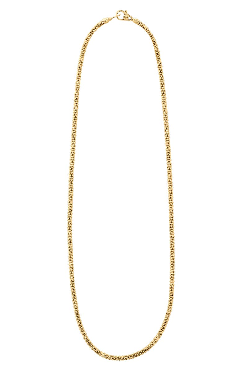 LAGOS Caviar Gold Rope Necklace, Main, color, GOLD