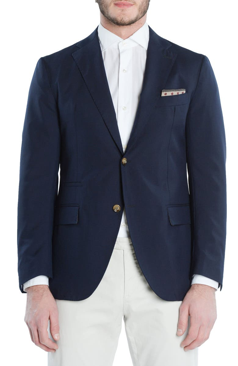 ELEVENTY Slim Fit Wool Blazer, Main, color, NAVY