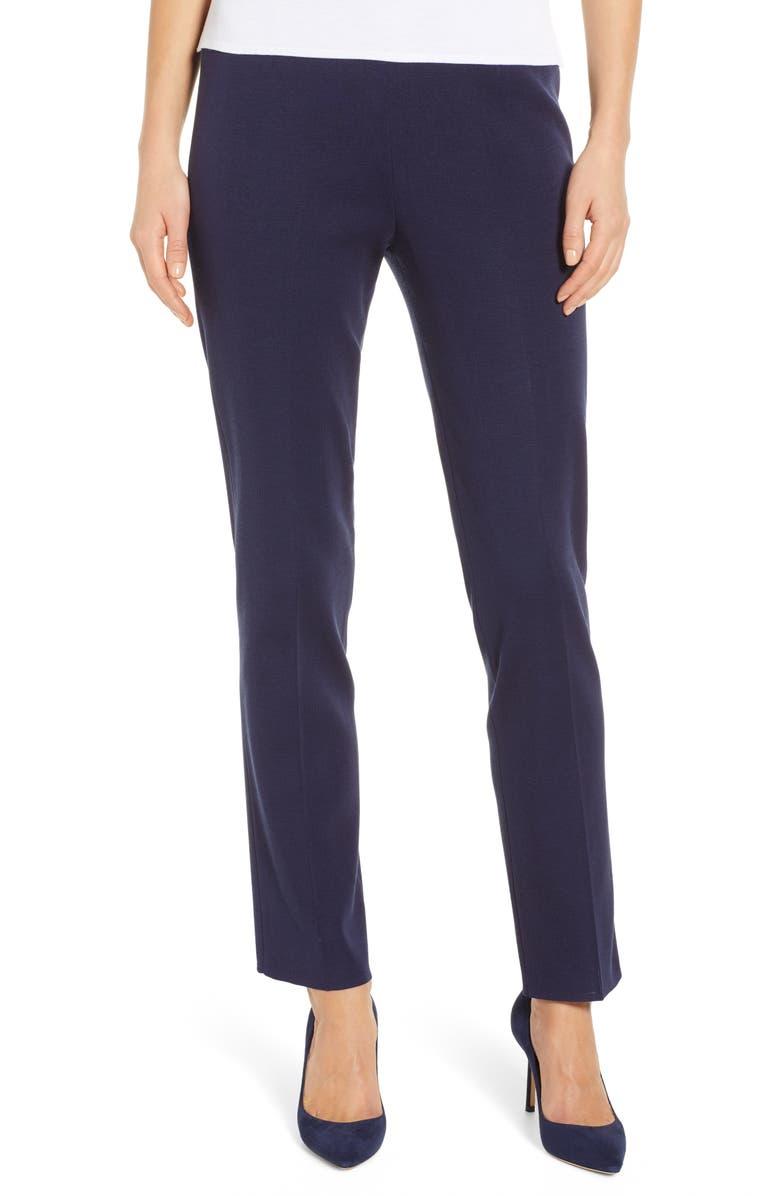MING WANG Pull-On Knit Pants, Main, color, INDIGO
