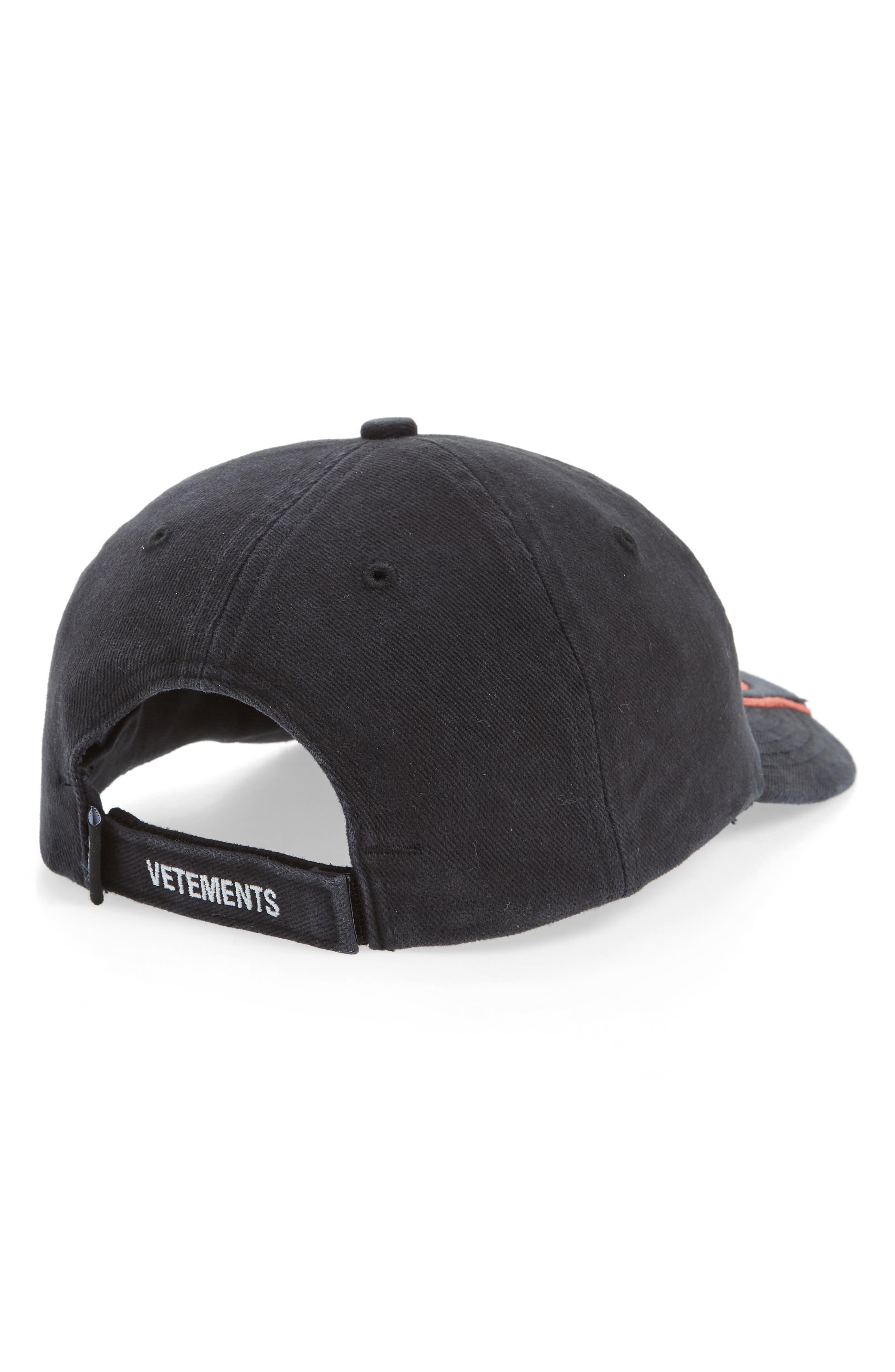 ,                             Fire Logo Baseball Cap,                             Alternate thumbnail 2, color,                             BLACK