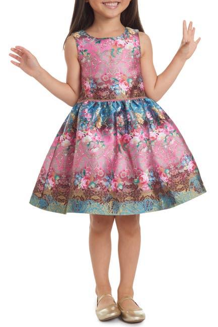 Image of Pippa & Julie Floral Stripe Dress