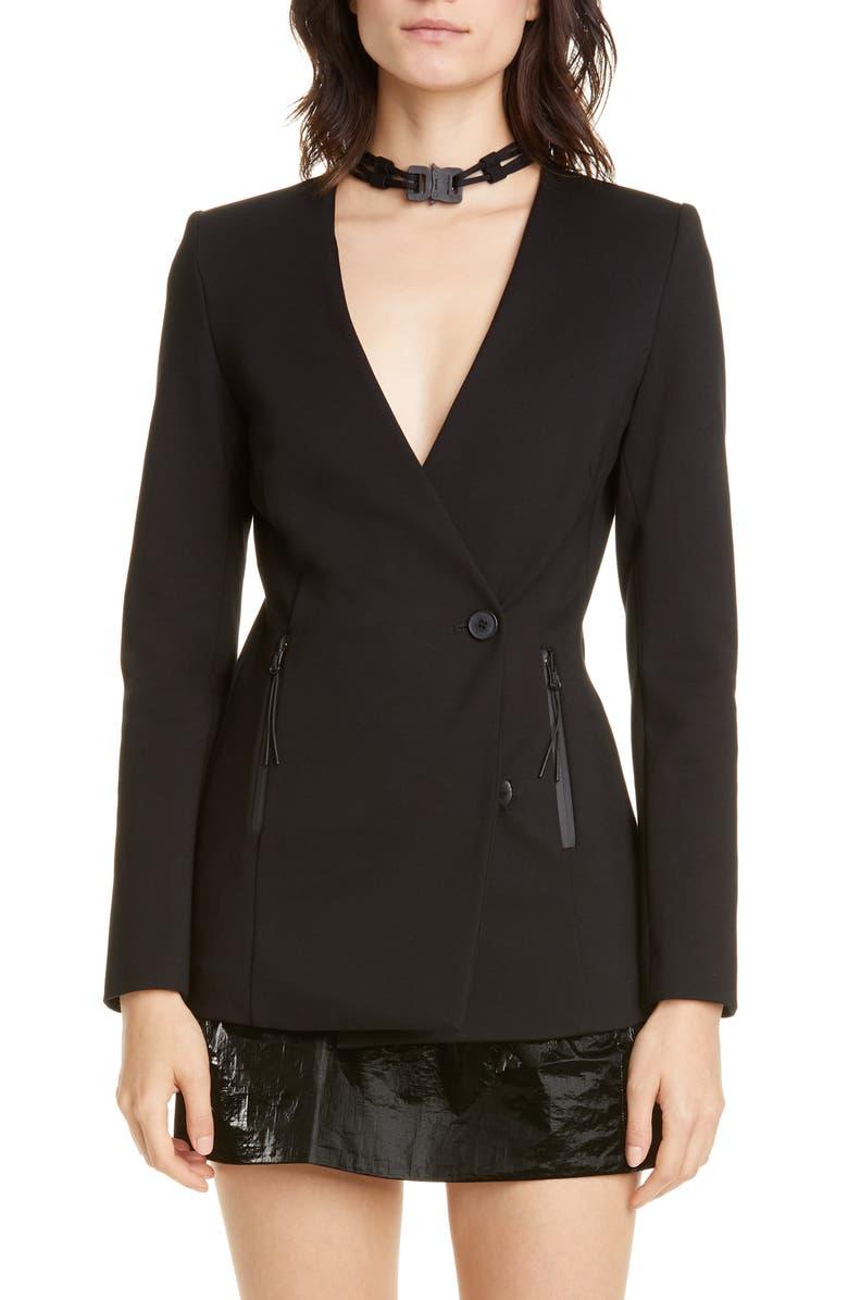 1017 ALYX 9SM Nylon Buckle Jersey Blazer, Main, color, 001