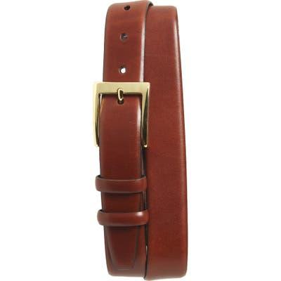 Torino Double Buckle Leather Belt, Chili