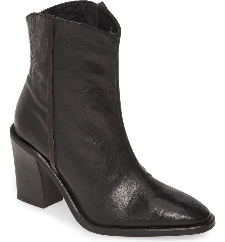 FREE PEOPLE Barclay Bootie, Main, color, BLACK LEATHER