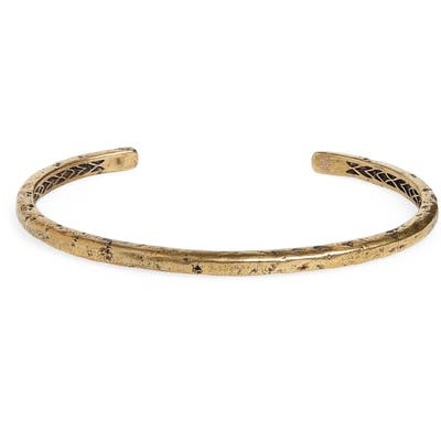 John Varvatos Distressed Brass Cuff Bracelet