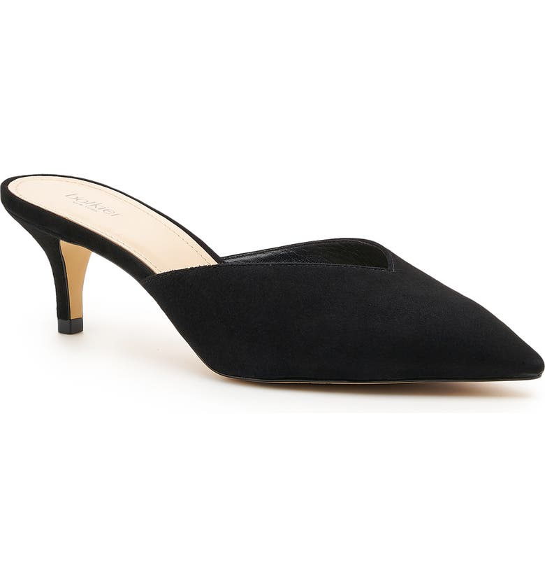 BOTKIER Pati Pointed Toe Mule, Main, color, BLACK SUEDE