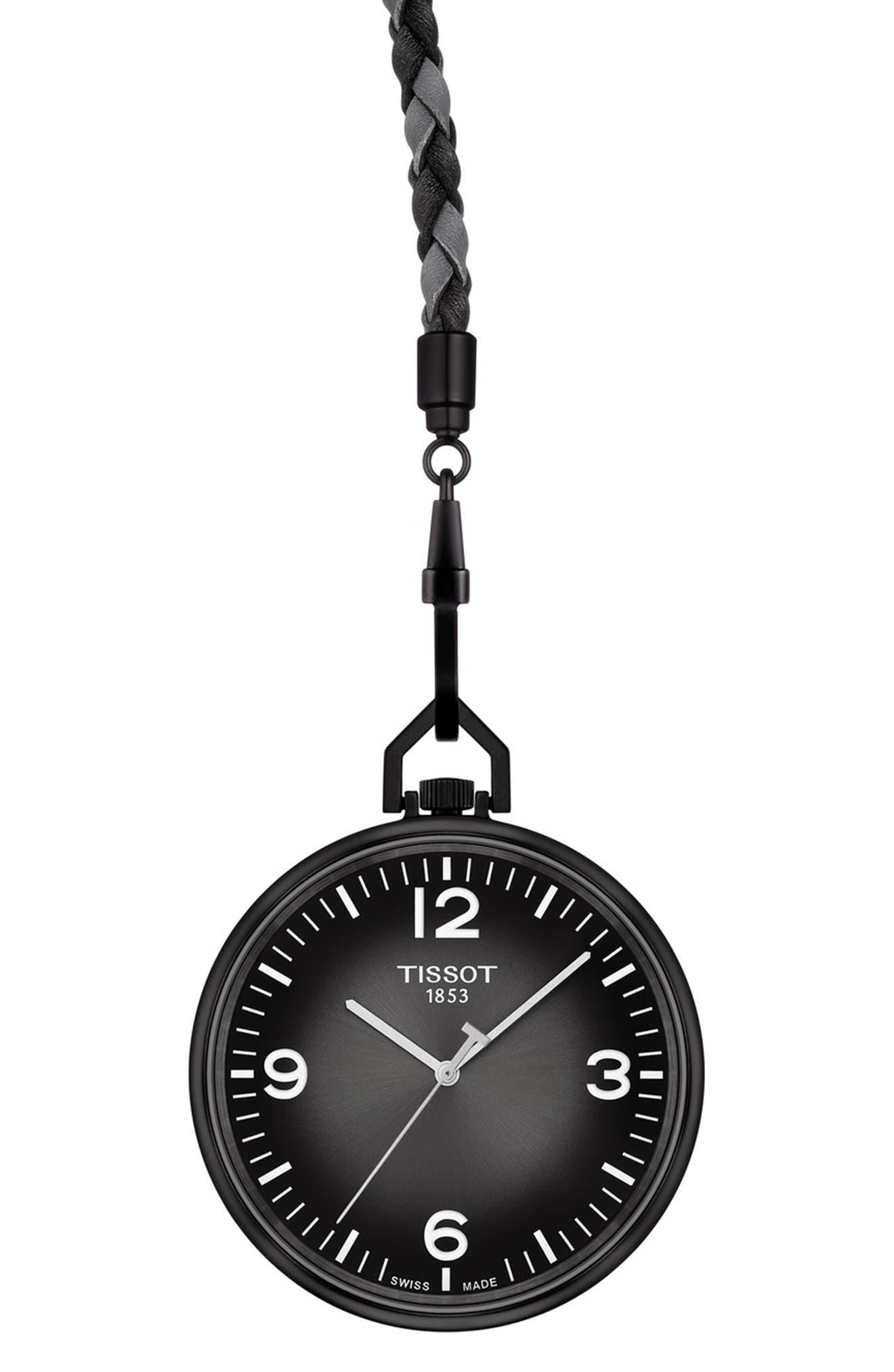 Tissot Men's Lepine Pocket Watch In Anthracite Gradient