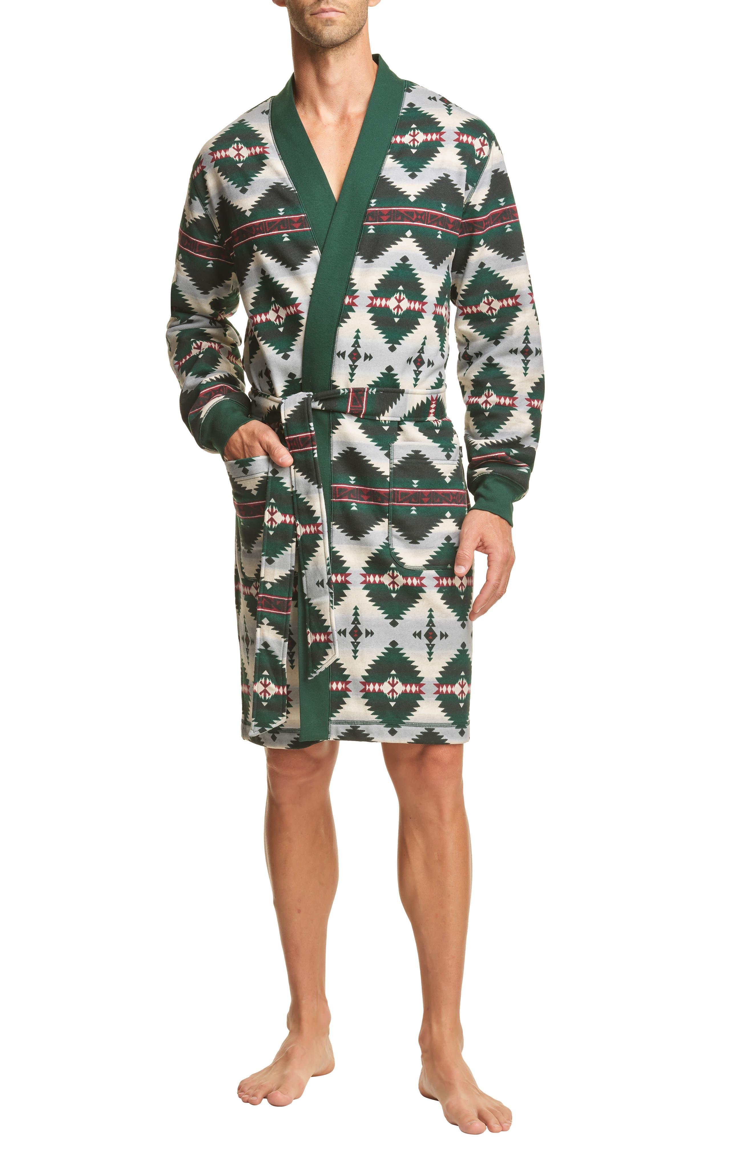 1930s Men's Clothing Mens Polo Ralph Lauren Brushed Fleece Robe Size SmallMedium - Green $79.50 AT vintagedancer.com