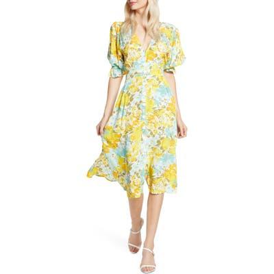 Faithfull The Brand Rafa Floral Midi Dress, Yellow