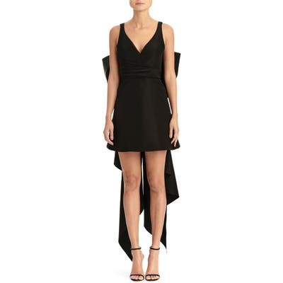 Carolina Herrera Bow Back A-Line Minidress, Black