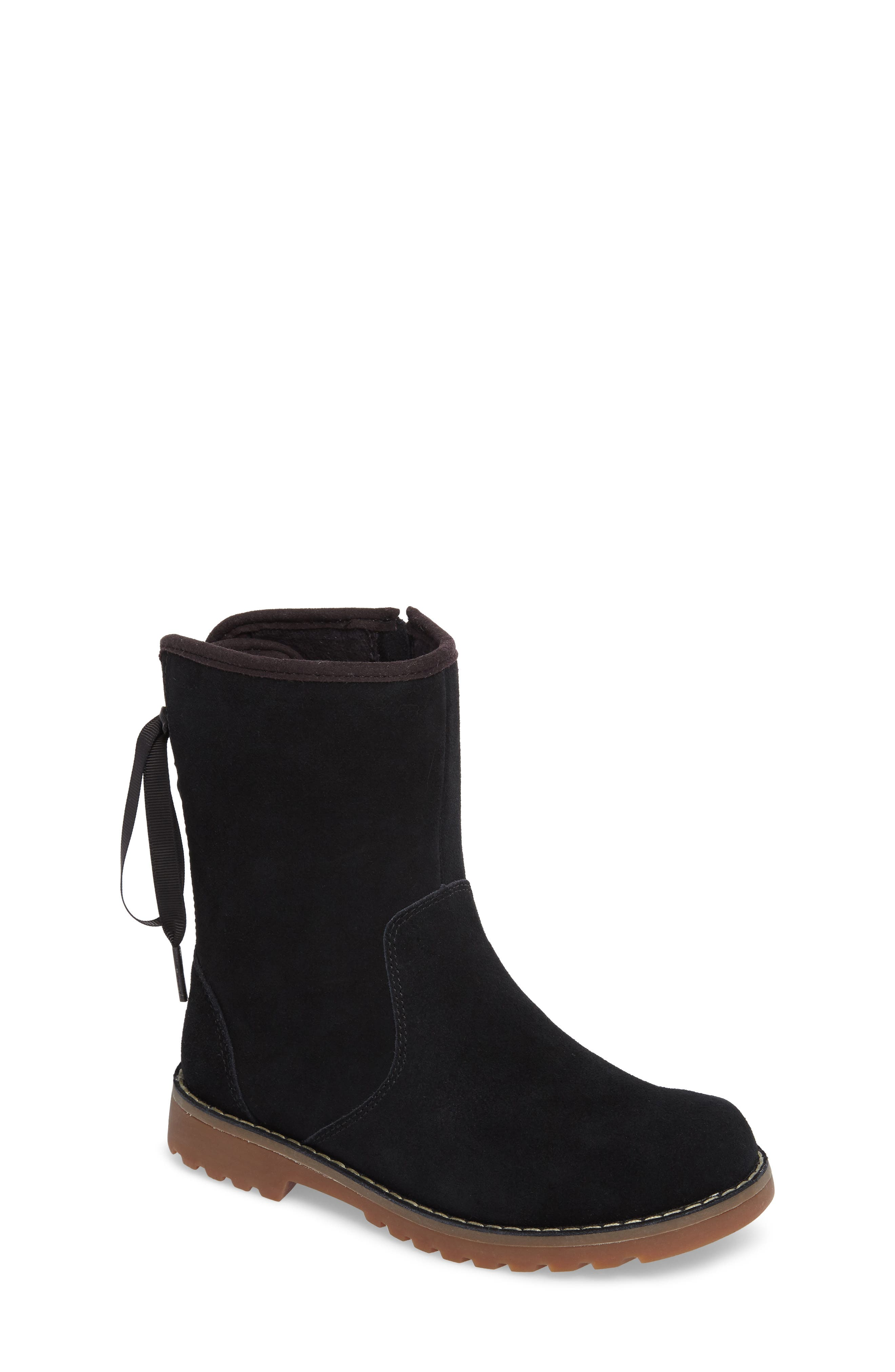 'Corene' Suede Boot, Main, color, BLACK/ BLACK