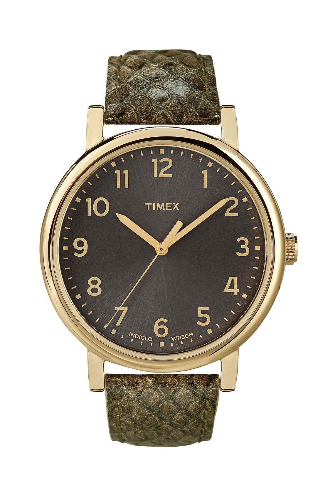 ,                             'Easy Reader' Leather Strap Watch,                             Main thumbnail 2, color,                             300
