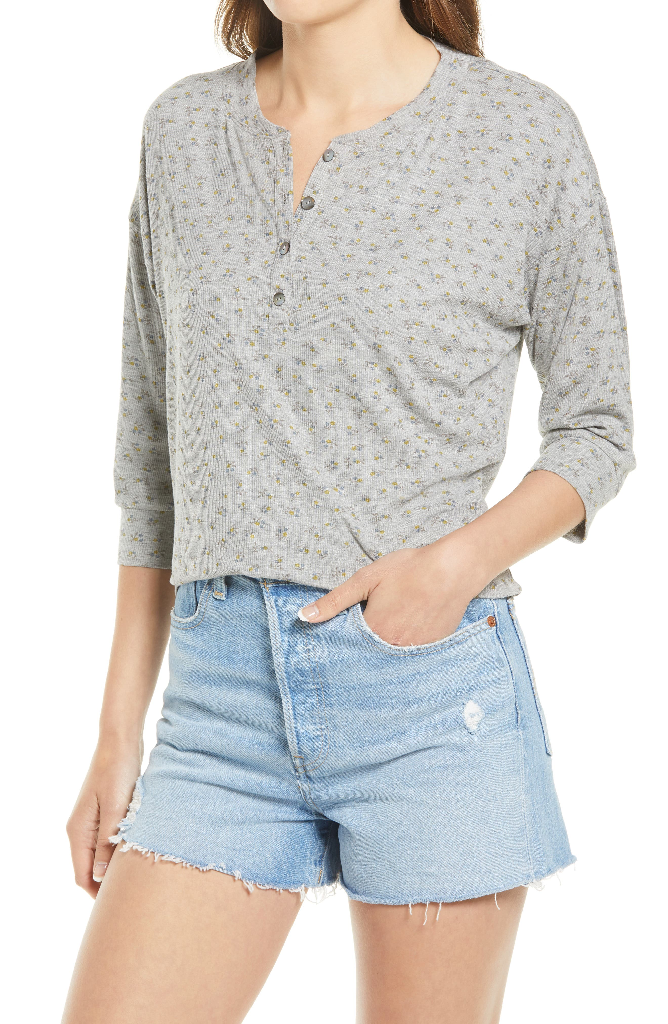 Claudine Ditsy Floral Henley Top