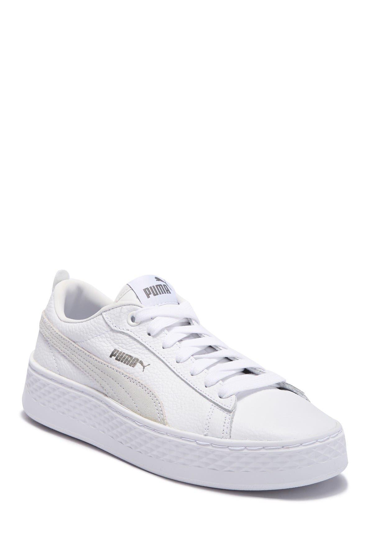 PUMA | Smash Leather Platform Sneaker