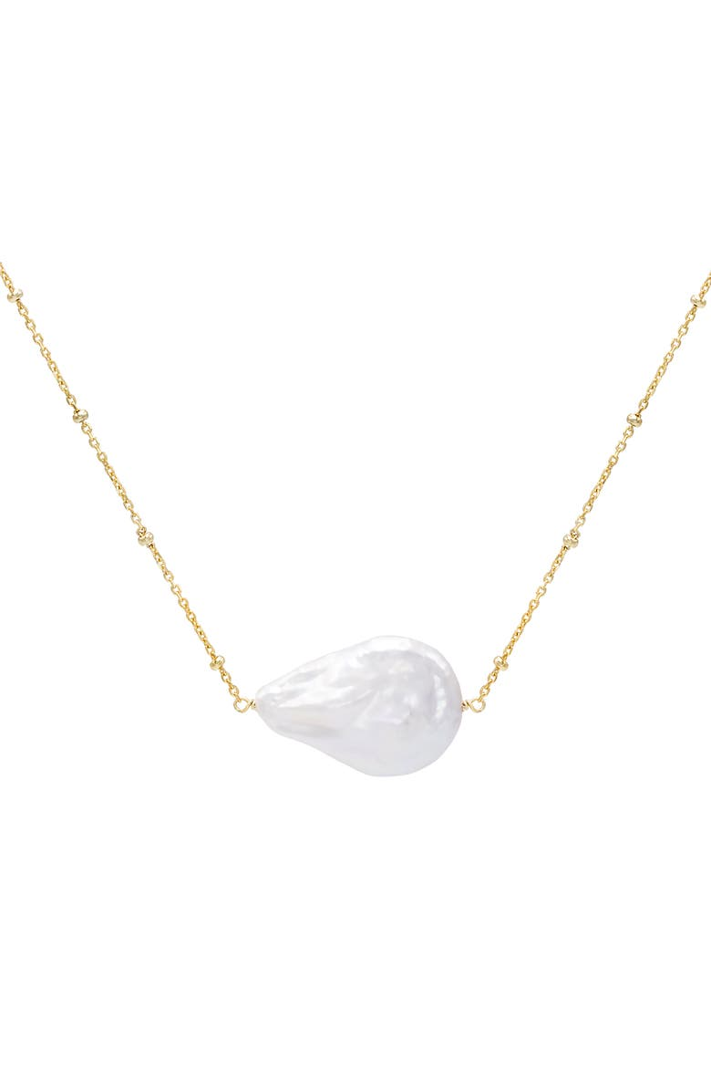 ADINA'S JEWELS Imitation Pearl Pendant Necklace, Main, color, 710