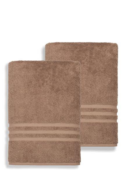 Image of LINUM HOME Denzi Bath Sheet - Set of 2 - Latte