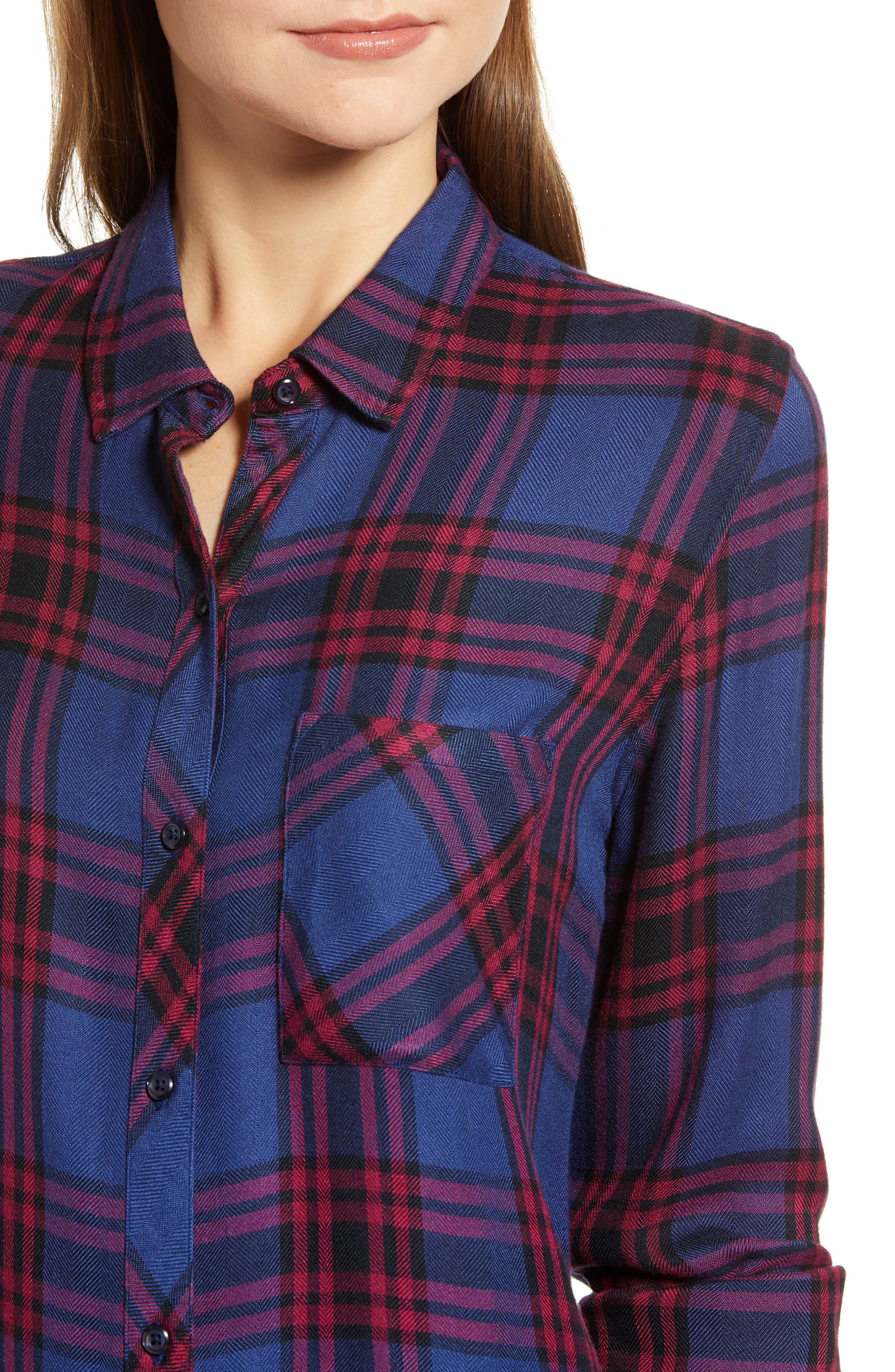 ,                             Hunter Plaid Shirt,                             Alternate thumbnail 382, color,                             450
