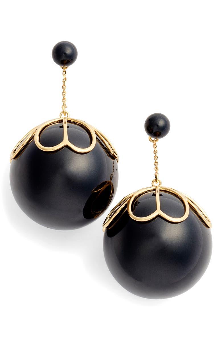 KATE SPADE NEW YORK pearlette drop earrings, Main, color, 001