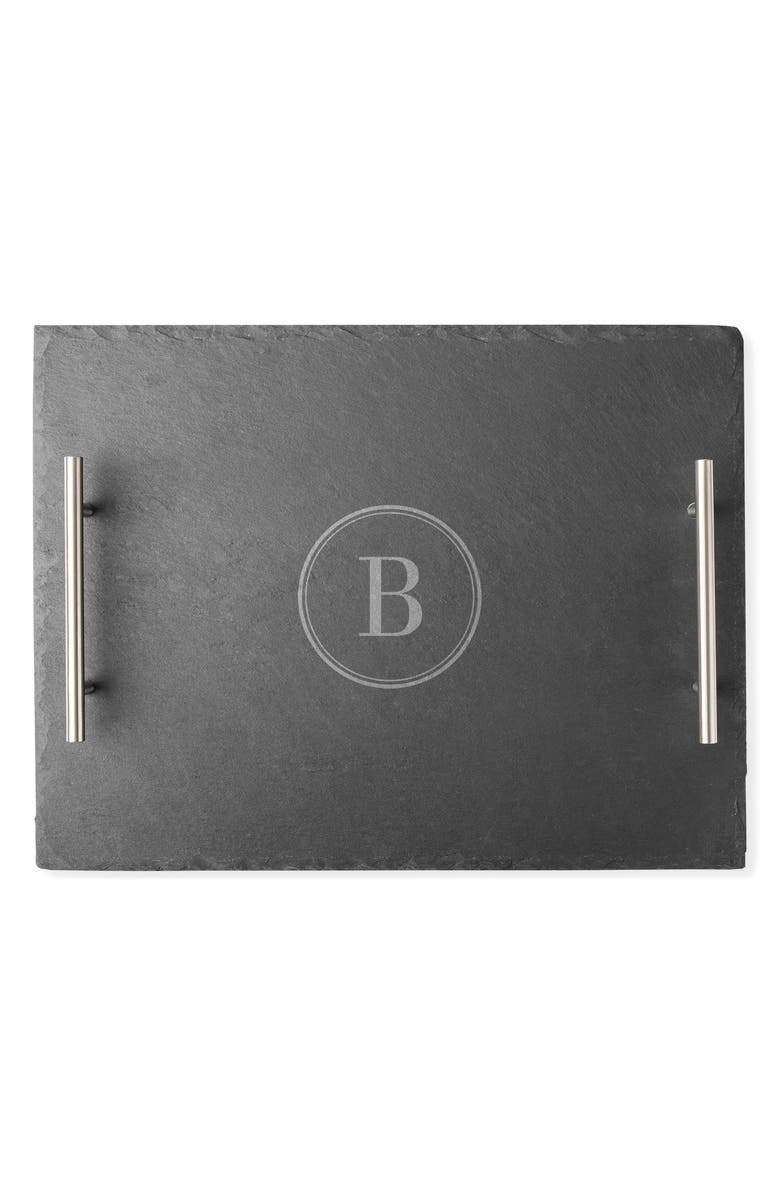 CATHY'S CONCEPTS Monogram Slate Tray, Main, color, B