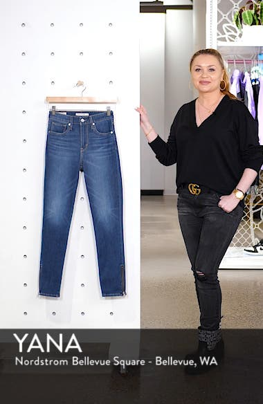 721<sup>™</sup> High Waist Ankle Zip Skinny Jeans, sales video thumbnail