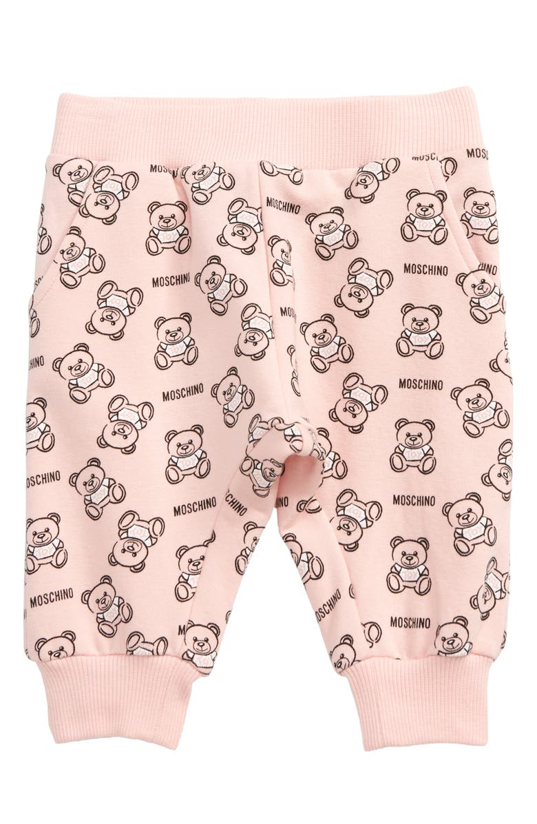 MOSCHINO Teddy Bear Print Sweatpants, Main, color, 650