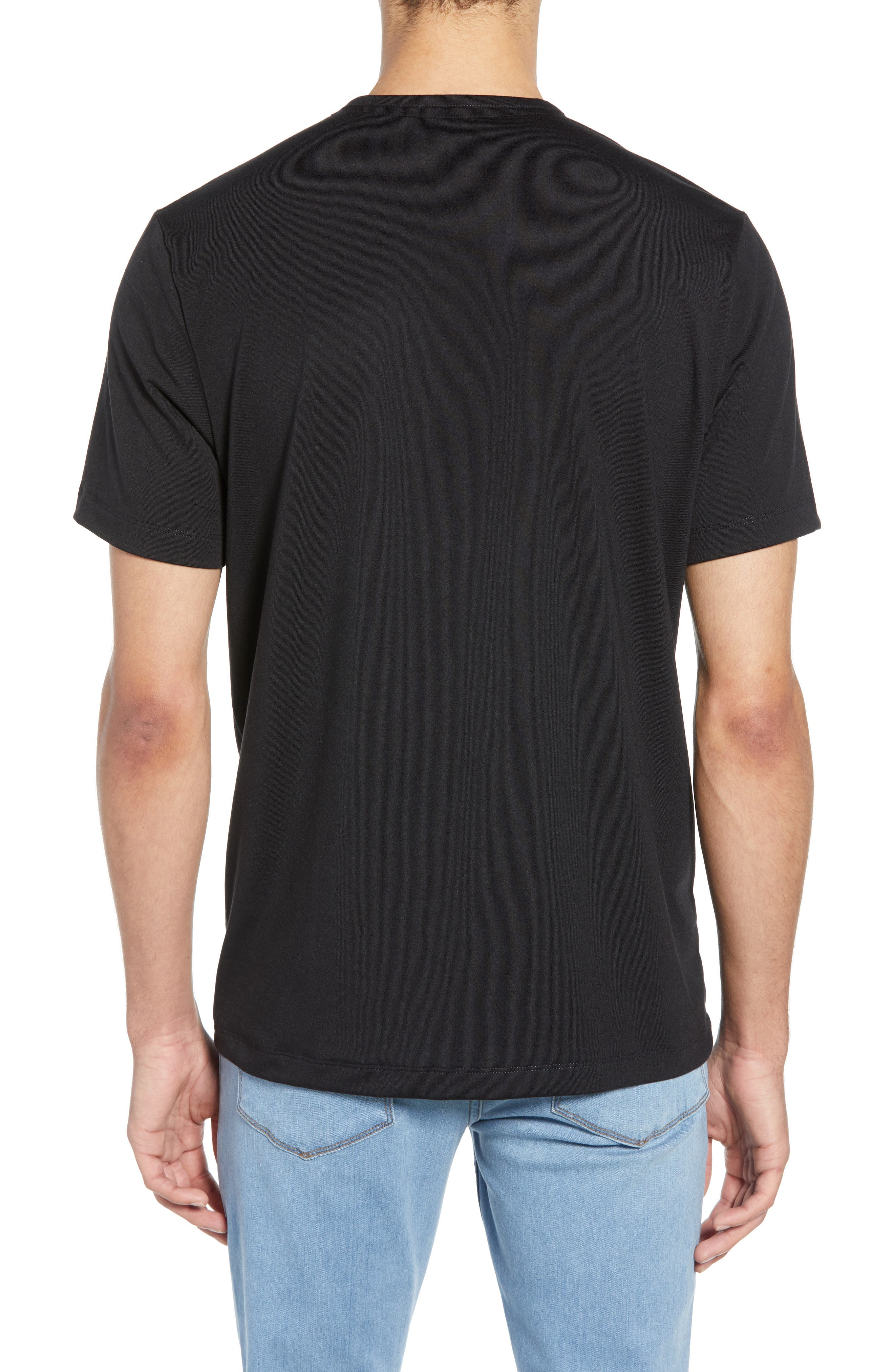 ,                             Solid Henley,                             Alternate thumbnail 2, color,                             BLACK