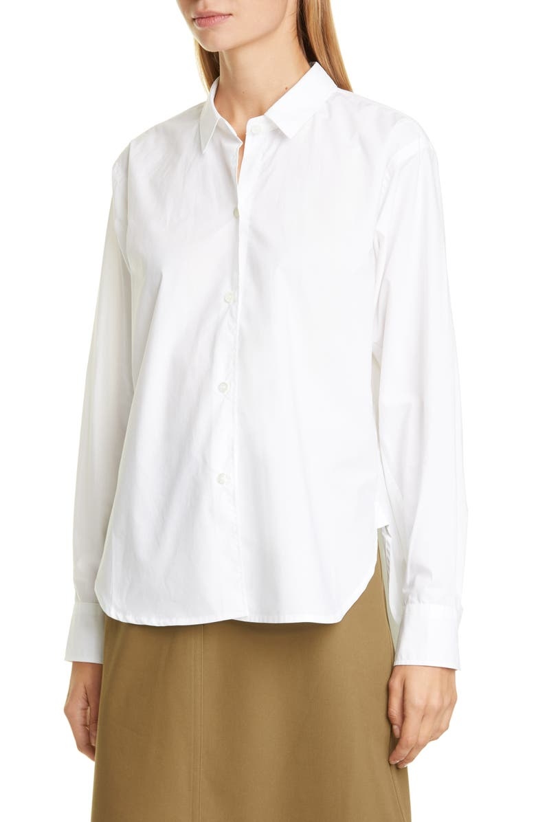 SOFIE D'HOORE Cotton Poplin Shirt, Main, color, OPTICAL WHITE